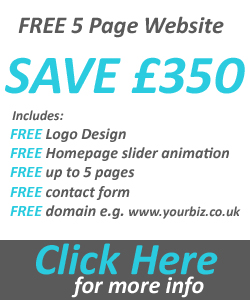 free 5 page website offer