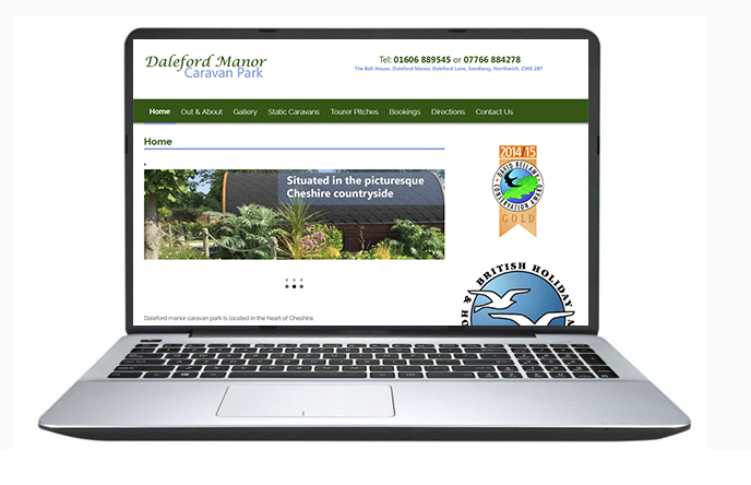 Free Website Design Offer Example - Daleford Manor Caravan Park