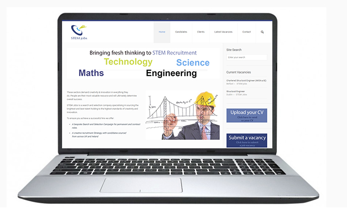 Free Website Design Offer Example - STEM Jobs
