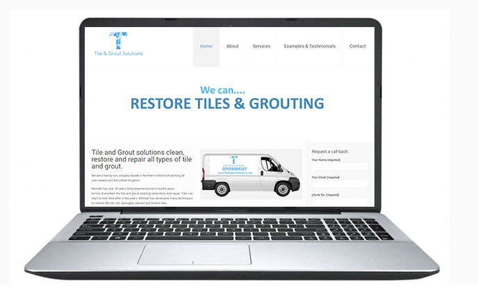 Free Website Design Offer Example - Tile & Grout Solutions