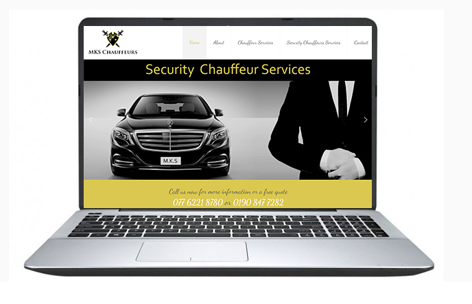 Free Website Design Offer Example - MKS Chauffeurs