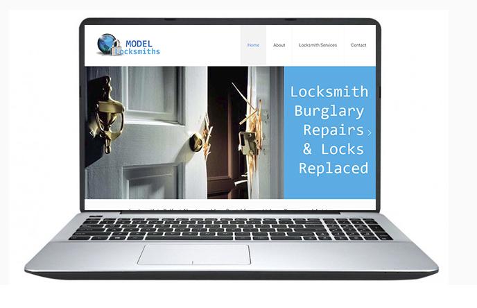 Free Website Design Offer Example - Model Locksmiths