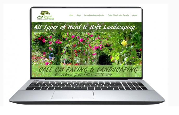 Free Website Design Offer Example - CM Paving & Landscaping