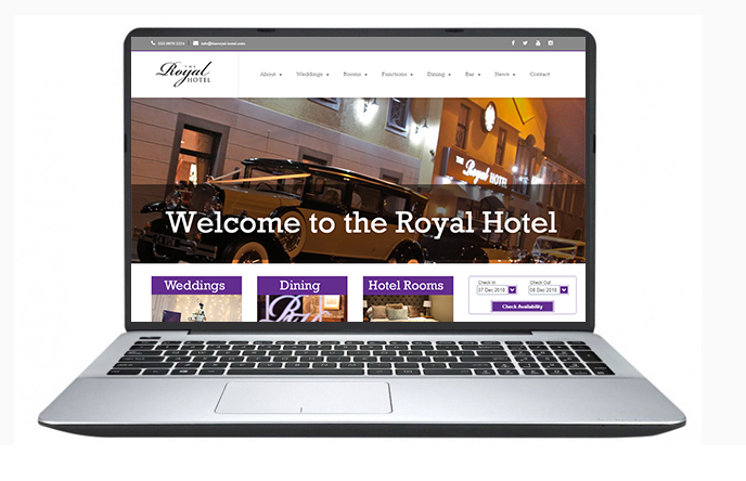 Free website design uk - The Royal Hotel
