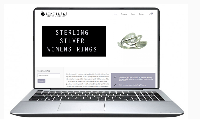 Free Website Design Offer Example - Limitless Jewellery