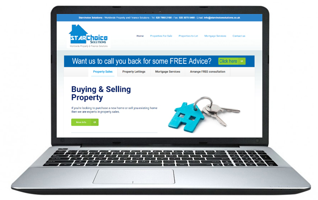 Free Website design example 3 - Starchoice Solutions