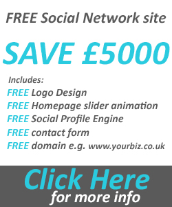 FREE social network website design offer
