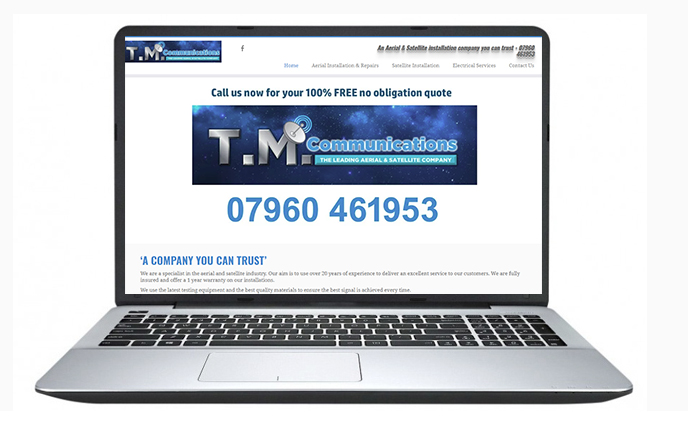 Free Website Design Offer Example - TM Communication