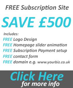 Free subscription website design offer