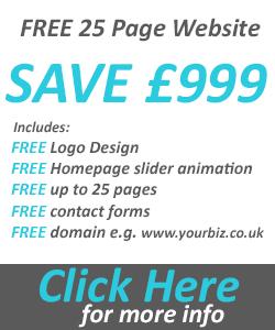 Free 25 page website design offer
