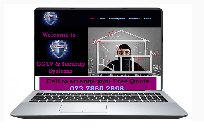 Free Website Design Offer Example - G1 Security Systems