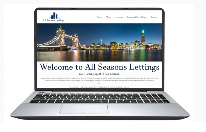 Free website design uk - All Seasons lettings