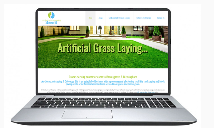 Free website design uk - Northern Landscaping and paving