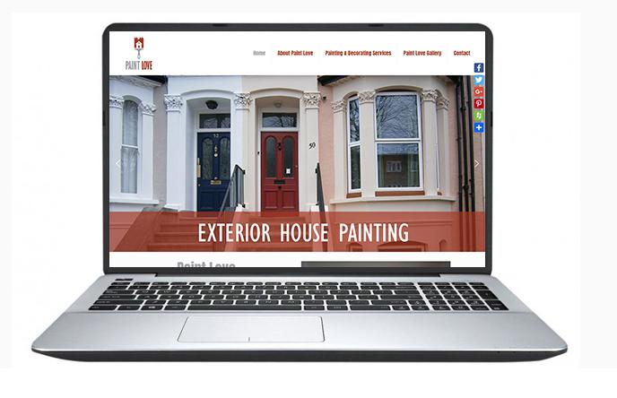 Free website design uk - Paint Love