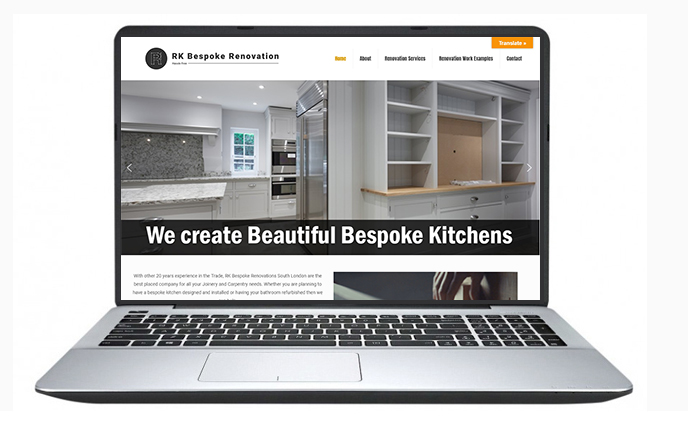 Free website design uk - RK Bespoke Renovations